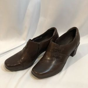 Clark's Bendables Brown Leather Shoe Size 10